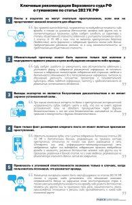 «Рекомендации Верховного суда РФ о гуманизме по статье 282 УК РФ» от rapsinews.ru